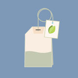Flat style tea bag icon. Royalty Free Stock Images