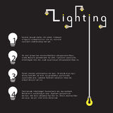 Flat style Template with light bulb idea infographics concept vector illustration design Stock Photography