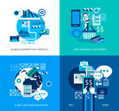 Flat Style UI Icons to use for your business project, Stock Image