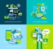 Flat Style UI Icons to use for your business project Royalty Free Stock Photo