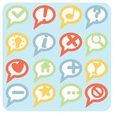 Flat Style Variations Navigation Icons Speech Bubbles Stock Photography