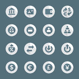 Flat style various financial banking icons set Royalty Free Stock Image