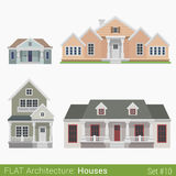Flat style vector countryside buildings Stock Images