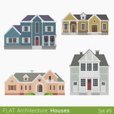 Flat style vector countryside townhouse Stock Image