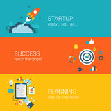 Flat Style Web Infographic Concept Stock Photography