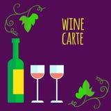 Flat style wine shop set Royalty Free Stock Photo