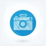 Flat styled icon of film camera Stock Images