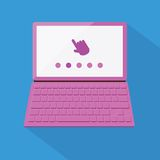 Flat styled laptop Stock Photo