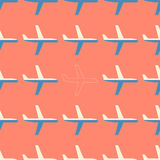 Flat styled seamless pattern with missing plane Stock Photo
