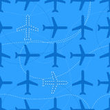 Flat styled seamless pattern with missing planes Royalty Free Stock Image