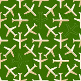 Flat styled seamless pattern with missing planes Stock Image