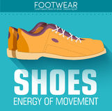 Flat styling shoes background concept. Vector Stock Image