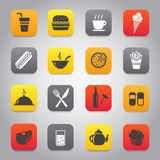Flat and stylish design icon set Royalty Free Stock Photography