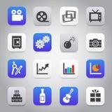 Flat and stylish design icon set Royalty Free Stock Images