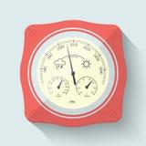 Flat Stylized Barometer Instrument. Vector Illustration. Stock Image