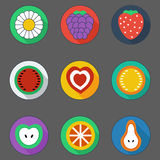 Flat summer icons Stock Images