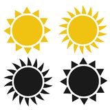 Flat sun icon. Sun pictogram.Template vector illustration. vector illustration