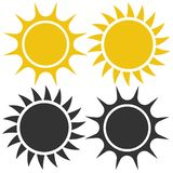 Flat sun icon. Sun pictogram.Template vector illustration. vector illustration
