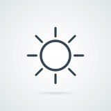 Flat sun Icon. Summer pictogram. Sunlight symbol. Stock Images