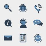 Flat support icons Royalty Free Stock Images