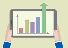 FLAT_tablet_growthchart_01 Stock Image