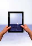 Flat tablet pc Stock Photography