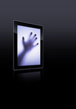 Flat tablet pc Royalty Free Stock Images
