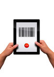 Flat tablet pc Royalty Free Stock Photo