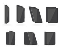 Flat tablets different angles Stock Photo