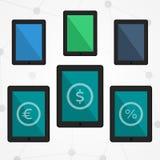 Flat tablets set Royalty Free Stock Image