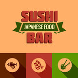 Flat template of sushi bar menu Royalty Free Stock Photography
