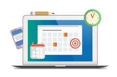 Flat time management and organization themed illustration. Isolated on white background royalty free illustration