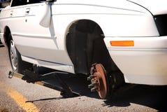 Flat Tire Royalty Free Stock Photos