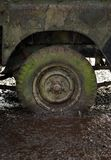 Flat tire. 4x4 Flat tire in mud stock images