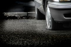 Flat Tire Royalty Free Stock Photography