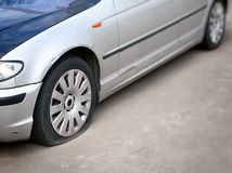 Flat tire Royalty Free Stock Photos