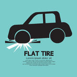 Flat Tire Car Stock Photos