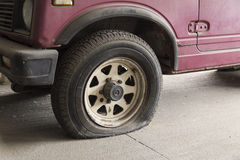 Flat tire Stock Photos