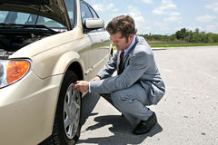 Flat Tire - Inconvenient Royalty Free Stock Photography