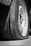 Flat tire Royalty Free Stock Photo