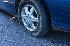 Free Flat Tire On The Road Royalty Free Stock Photo - 73070755