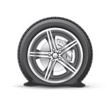 Flat tire stock illustration