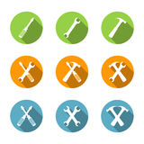 Flat Tools Icons Stock Image