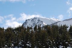Flat Top Mountain. In Anchorage, Alaska on a sunny winter day Stock Photography