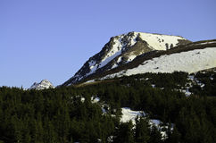 Flat top mountain peak Stock Images