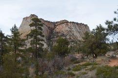 Flat topped Zion monolith Stock Photo