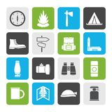 Flat Tourism and Holiday icons royalty free illustration