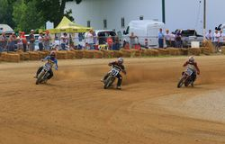 Flat Track motorcycle race stock images