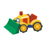 Flat tractor on white background. Stock Photography