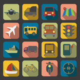 Flat transport icon Stock Images